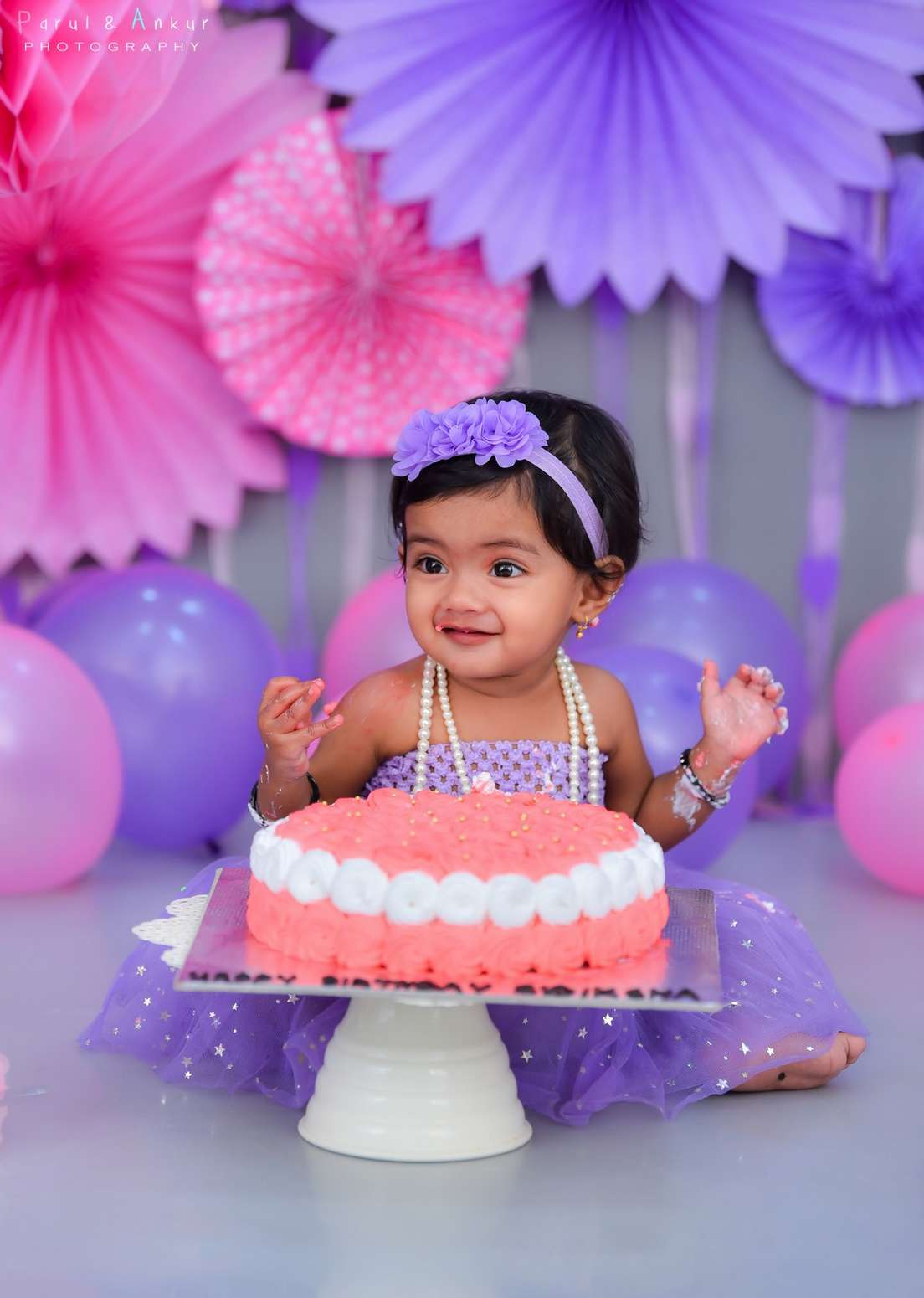 Sidiksha's cake smash photo